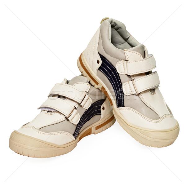 Fény sport házi cipők izolált fehér baba Stock fotó © pzaxe
