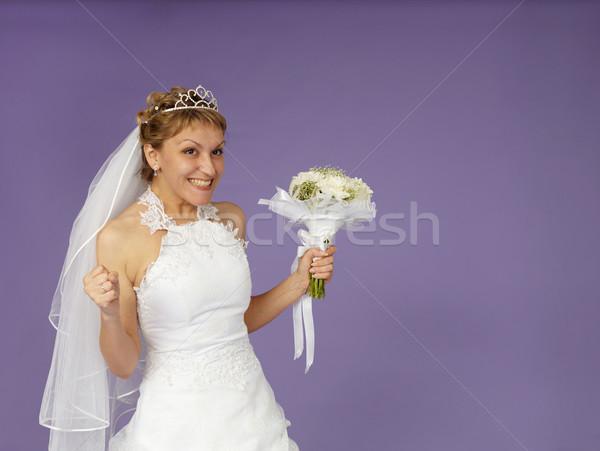 Very happy bride Stock photo © pzaxe