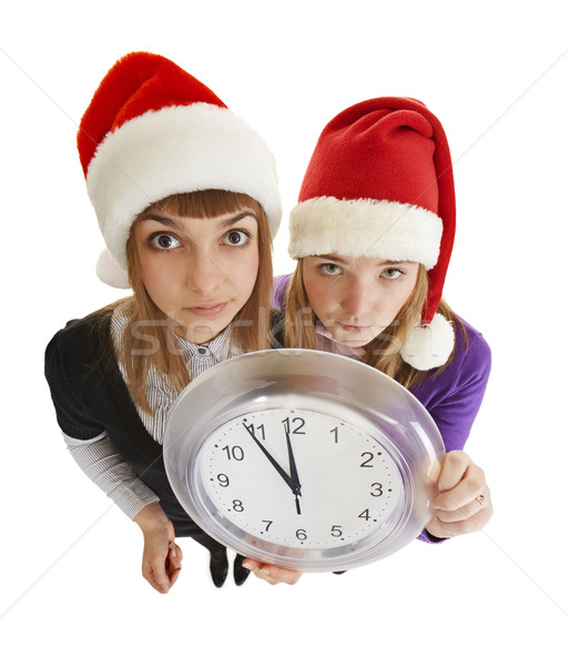 Two girls are ready to greet the new year Stock photo © pzaxe