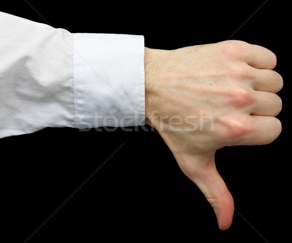 Thumb downwards Stock photo © pzaxe
