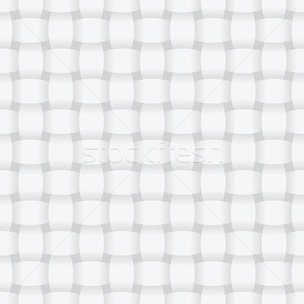 Intertwined light gray vector seamless pattern Stock photo © pzaxe