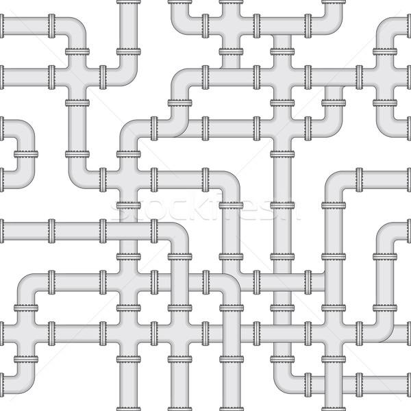 Seamless vector texture - water supply Stock photo © pzaxe