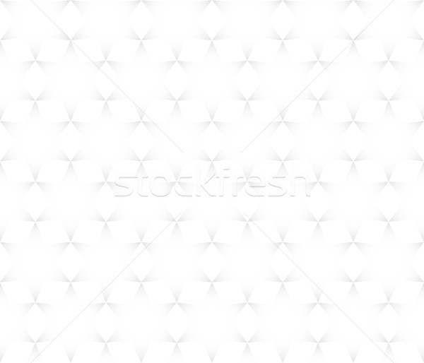Vector seamless pattern - hexagons gray abstract simple quirky b Stock photo © pzaxe