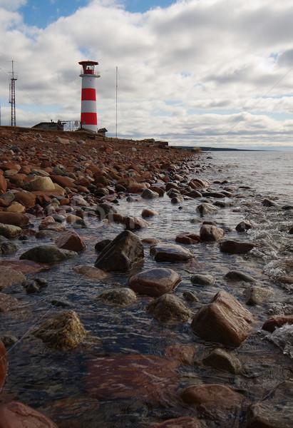 Baken kust noordelijk zee koud strand Stockfoto © pzaxe