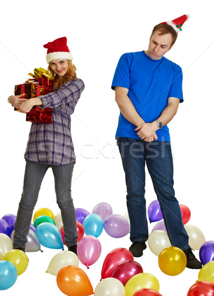Not to all give gifts for new year and Christmas Stock photo © pzaxe