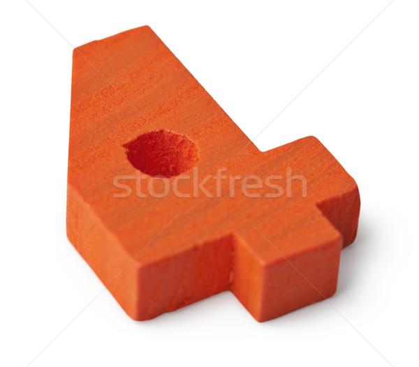 Orange wooden toy figure four Stock photo © pzaxe