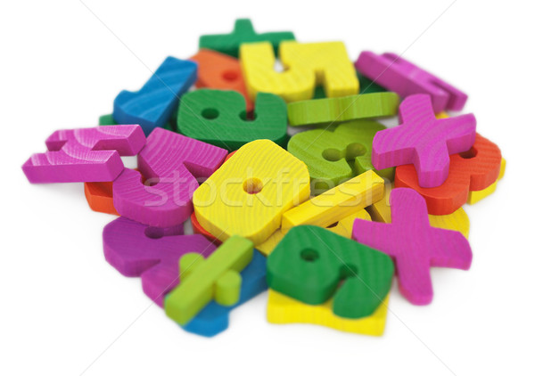Heap of color figures - educational calculating material Stock photo © pzaxe