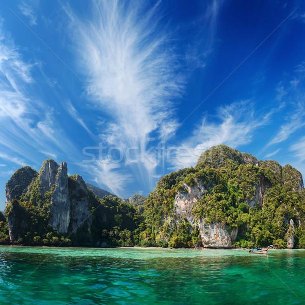 Ada Tayland phuket deniz manzara güzellik Stok fotoğraf © pzaxe