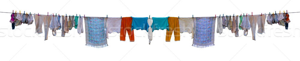 Underwear drying on a rope Stock photo © pzaxe