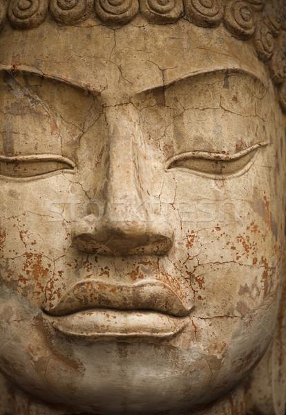 Foto stock: Cara · pedra · buda · estátua · olhos
