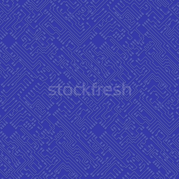 Microchip abstract vector Blauw hoog tech Stockfoto © pzaxe