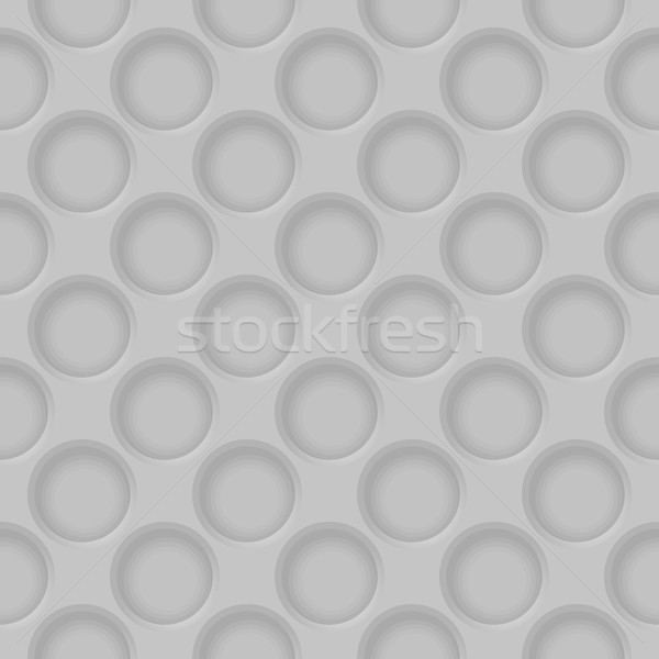Stock photo: Vector gray abstract perforated pattern texture gray background