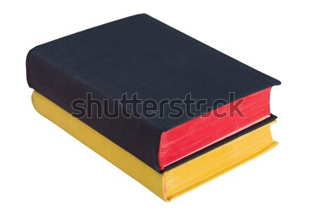 Two antique book, black and yellow Stock photo © pzaxe