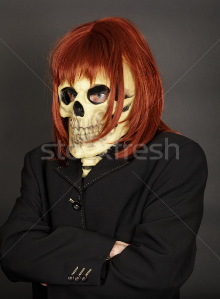 Funny man in suit - Skillet Stock photo © pzaxe