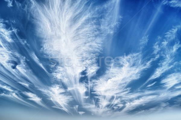 Nappal égbolt felhők absztrakt szépség űr Stock fotó © pzaxe