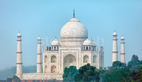 Célèbre Taj Mahal insolite angle Inde bâtiment Photo stock © pzaxe