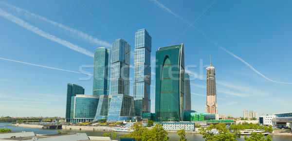 Modern High-rise Buildings in Central Moscow, Russia Stock photo © pzaxe