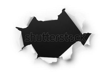 Ordinateur généré image trou papier déchiré Photo stock © pzaxe