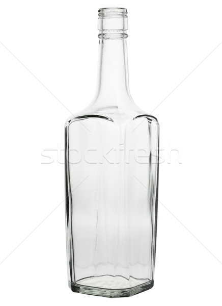 Clear Glass Liquor Bottle on a White Background Stock photo © pzaxe