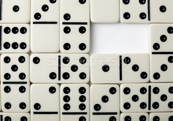 Pattern of a dominoe Stock photo © pzaxe