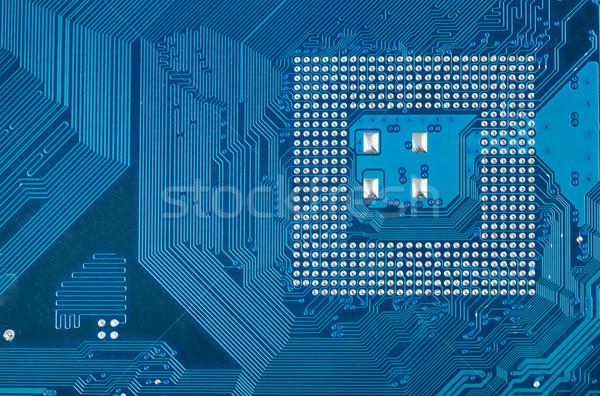 Bleu industrielle circuit électronique élevé tech Photo stock © pzaxe