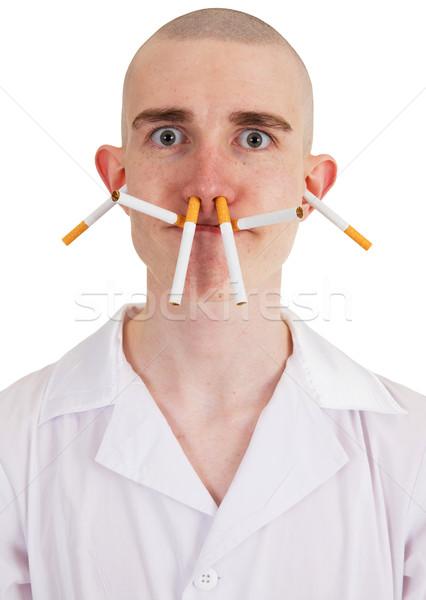 男 たばこ タバコ 人 白 ストックフォト © pzaxe