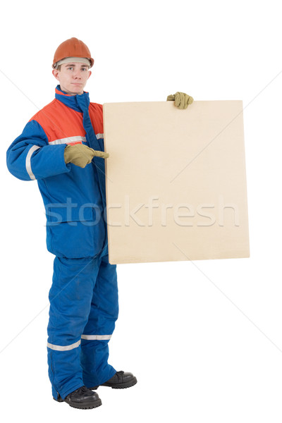 Laborer with box Stock photo © pzaxe