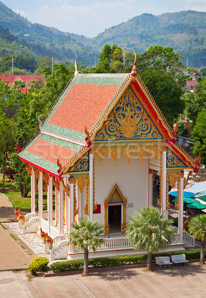 Old building - part of Buddhist temple complex. Thailand. Stock photo © pzaxe
