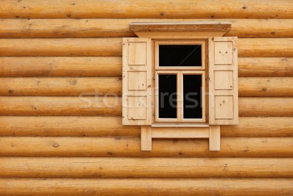 Wooden window with shutter doors Stock photo © pzaxe