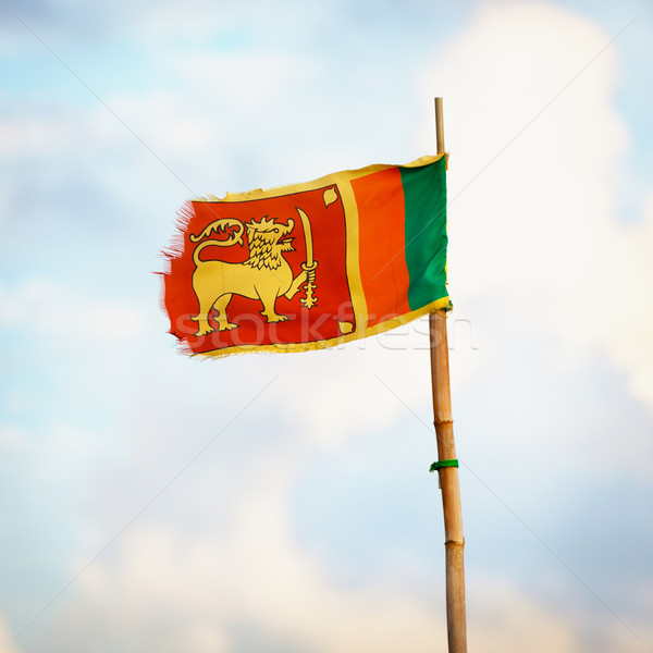 Democratic Socialist Republic of Sri Lanka flag Stock photo © pzaxe