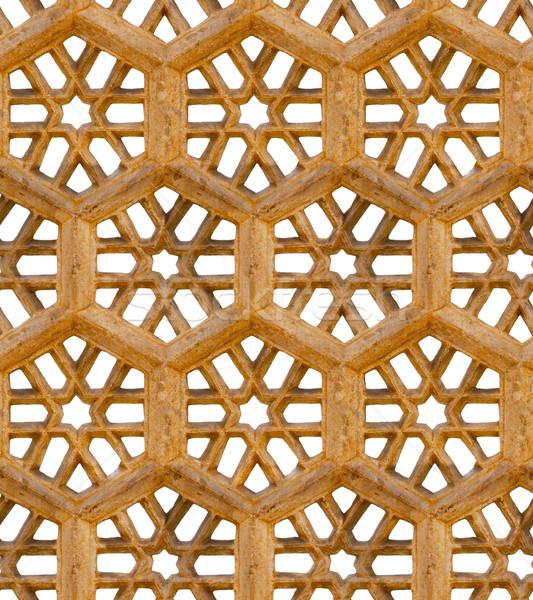 древних традиционный орнамент коричневый песчаник Сток-фото © pzaxe