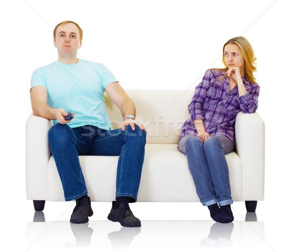 Marido esposa não encontrar mútuo isolado Foto stock © pzaxe