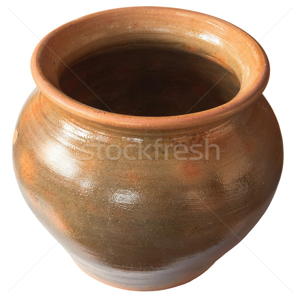 Big old clay pot isolated on a white background Stock photo © pzaxe