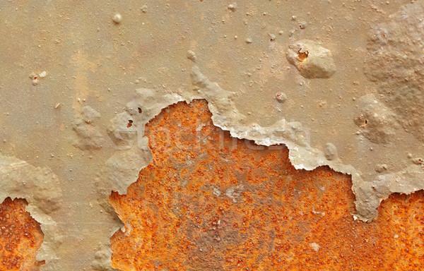 Ijzer vel beschadigd verf oppervlak muur Stockfoto © pzaxe