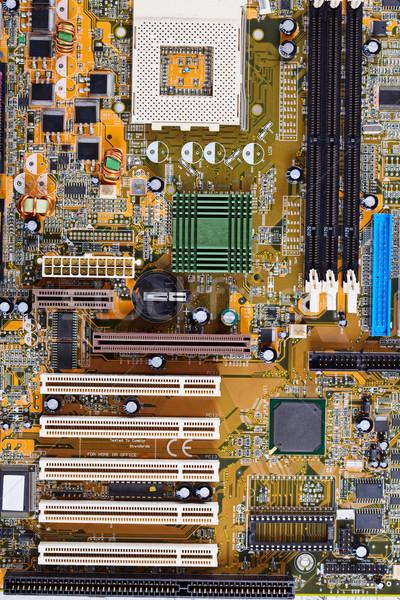 Computador velho placa-mãe ciência cabo Foto stock © pzaxe
