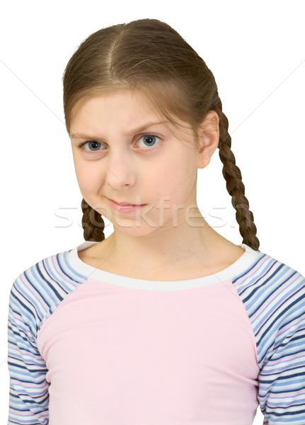 Stock photo: Skeptical teenager girl