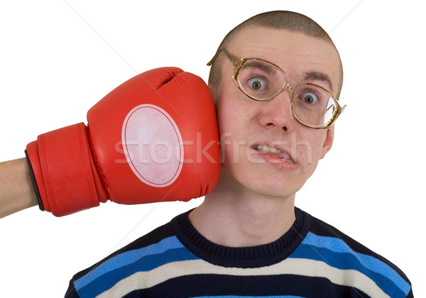 The man in spectacles taking punch  Stock photo © pzaxe