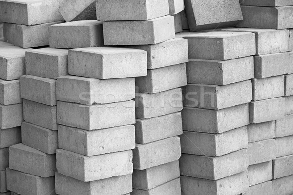 Silicate grey paving bricks in stacks Stock photo © pzaxe