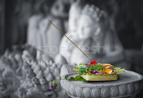 Donation to the gods. Indonesia, Bali Stock photo © pzaxe