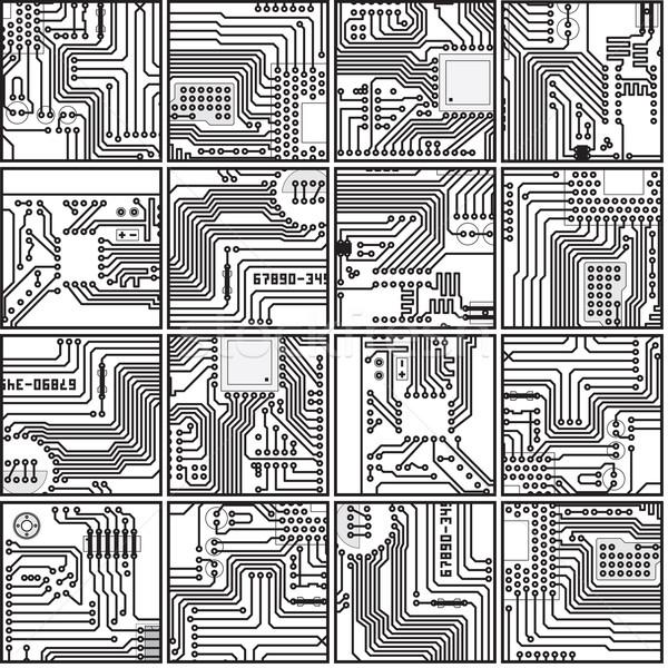 Absztrakt számítógép elektronika nyáklap minta vektor Stock fotó © pzaxe
