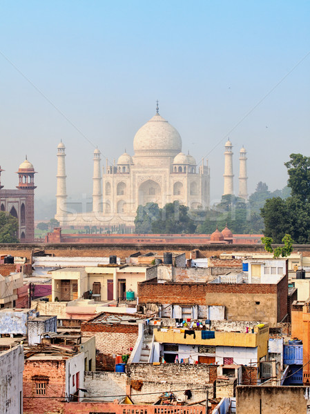 Photo stock: Pauvres · luxueux · Taj · Mahal · Inde · ville · construction