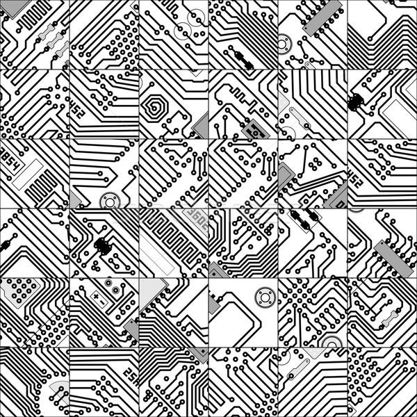 Trenta sei unico piastrelle circuito senza soluzione di continuità Foto d'archivio © pzaxe
