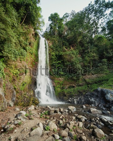 Highest waterfall in the mountains of Indonesia. Stock photo © pzaxe