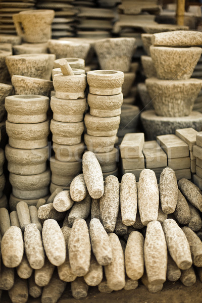 Steen producten Open markt birma kleur Stockfoto © pzaxe