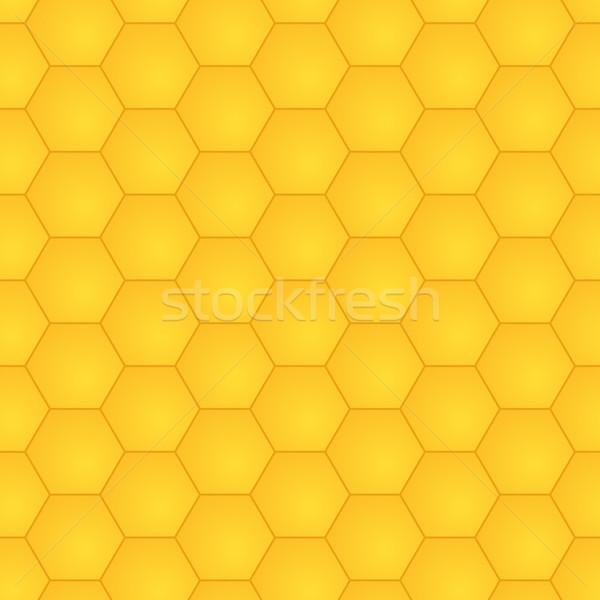 Hexagons golden honey vector seamless pattern for design Stock photo © pzaxe