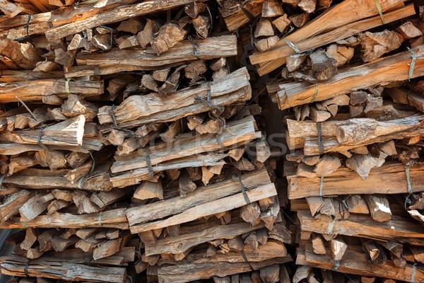 Kurutulmuş yakacak odun kuru kıyılmış küçük Stok fotoğraf © pzaxe
