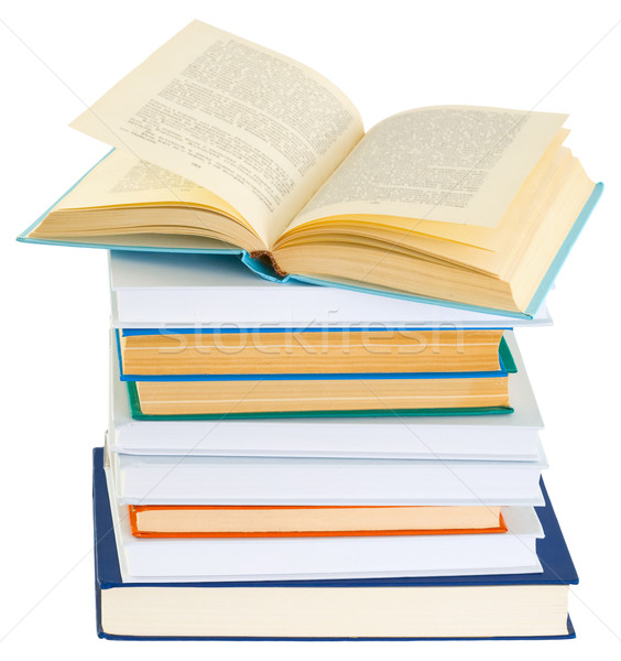 Pile of books on a white background Stock photo © pzaxe