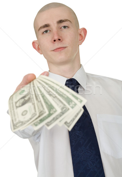 Man with money in a hand Stock photo © pzaxe