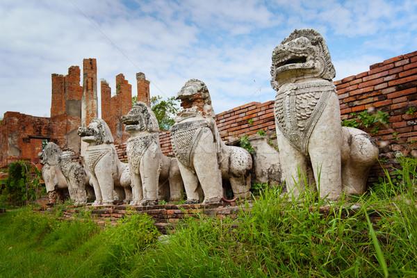 каменные руин древних храма Таиланд мифический Сток-фото © pzaxe