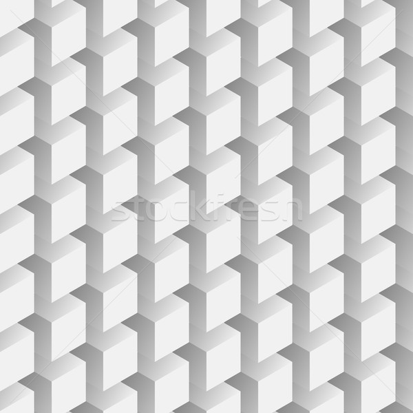 Seamless abstract vector pattern - repeating volumetric cubes mo Stock photo © pzaxe